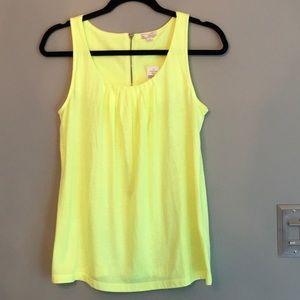 🆕 Gap Neon Yellow Scoop Neck Size S